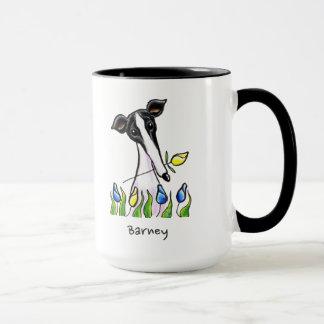 Amor del galgo personalizado taza