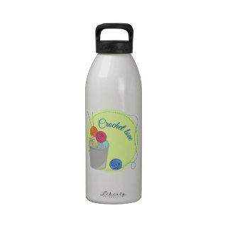 Amor del ganchillo botella de agua