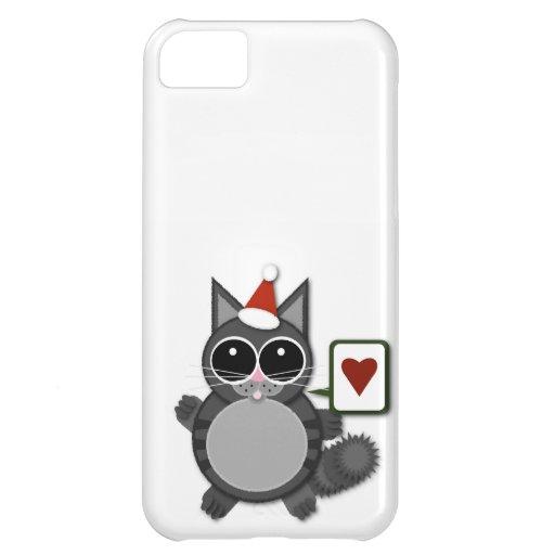 ¡Amor del gatito para los días de fiesta! Funda Para iPhone 5C