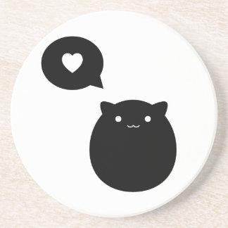 Amor del gatito posavasos personalizados