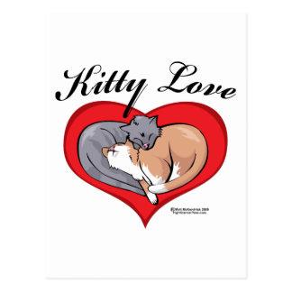 Amor del gatito postal