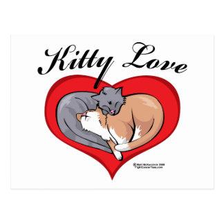 Amor del gatito postales