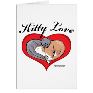 Amor del gatito tarjeta de felicitación