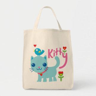 Amor del gato - amor del gatito bolsa tela para la compra