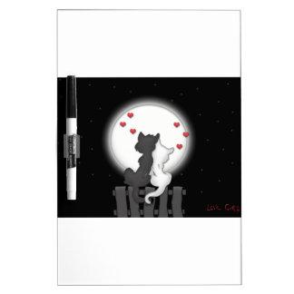 Amor del gato callejero pizarras blancas
