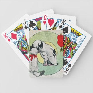 Amor del gato del vintage baraja cartas de poker
