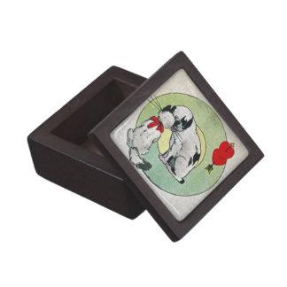 Amor del gato del vintage caja de regalo de calidad