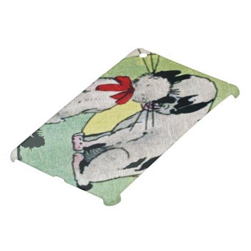 Amor del gato del vintage iPad mini protector