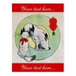 Amor del gato del vintage postal