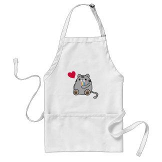 Amor del gato delantal