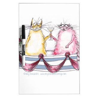 amor del gato - dibujo animado divertido, tableros blancos