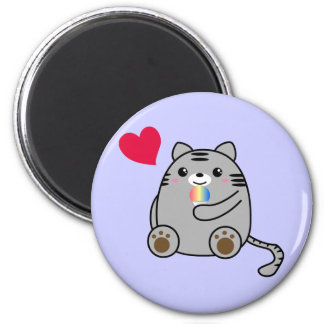 Amor del gato imán redondo 5 cm