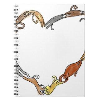 Amor del gato cuadernos