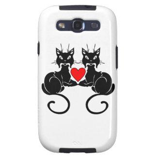 Amor del gato negro galaxy SIII cárcasa