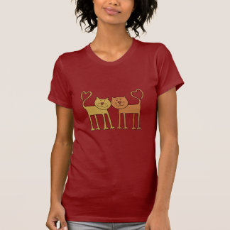 Amor del gato camiseta