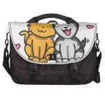 Amor del gato y del perro bolsa para ordenador