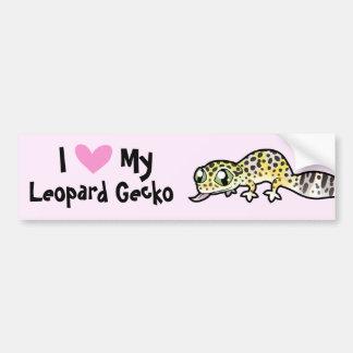 Amor del Gecko del leopardo Etiqueta De Parachoque