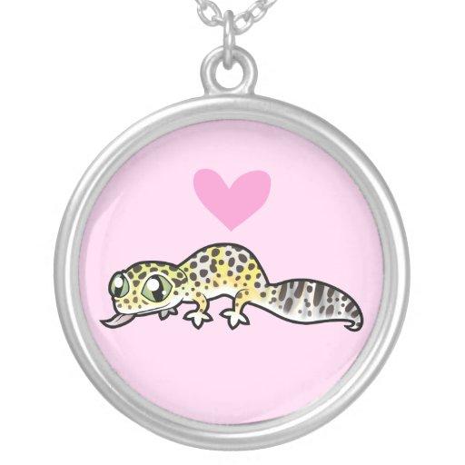 Amor del Gecko del leopardo Collar Personalizado