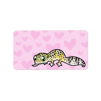 Amor del Gecko del leopardo Etiquetas De Dirección