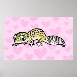 Amor del Gecko del leopardo Impresiones