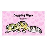 Amor del Gecko del leopardo Tarjetas De Negocios
