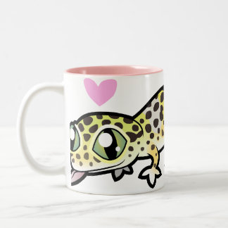 Amor del Gecko del leopardo Tazas