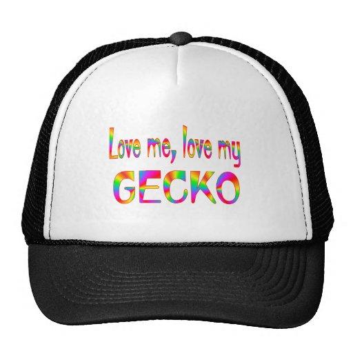 Amor del Gecko Gorro De Camionero
