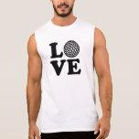 Amor del golf camiseta sin mangas