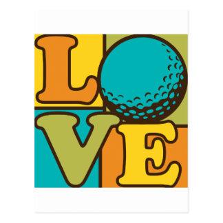 Amor del golf postales