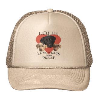 Amor del gorra de color caqui de los laboratorios