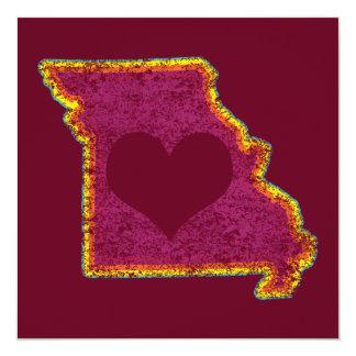 """amor del grunge de Missouri Invitación 5.25"""" X 5.25"""""""