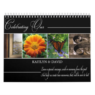 AMOR del Guestbook del boda en fotografía del Calendario