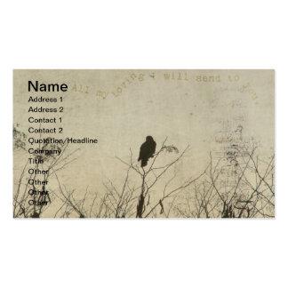 Amor del halcón, halcón en el arte de Digitaces de Tarjetas De Visita