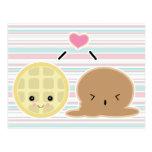 amor del helado de la galleta y postal