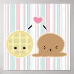 amor del helado de la galleta y poster