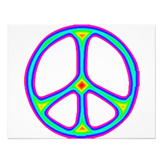 Amor del Hippie de los años 60 del signo de la paz Comunicados Personalizados
