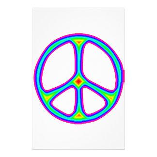 Amor del Hippie de los años 60 del signo de la paz Papelería Personalizada