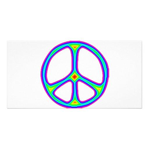 Amor del Hippie de los años 60 del signo de la paz Tarjeta Personal
