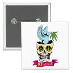 Amor del Hippie del ~ 60s del cráneo/de la paloma  Pin