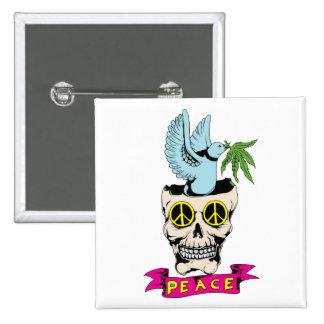 Amor del Hippie del 60s del cráneo de la paloma Pin