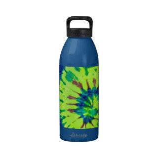 Amor del hippy del teñido anudado 60s de la paz botella de beber