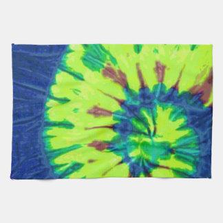 Amor del hippy del teñido anudado 60s de la paz toalla de mano