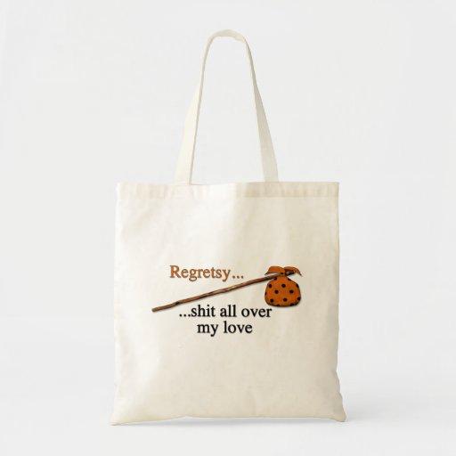 Amor del hobo bolsas lienzo