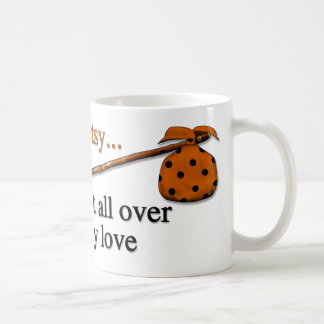 Amor del hobo taza de café