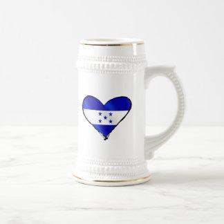 Amor del Honduran - regalos de la bandera de Jarra De Cerveza