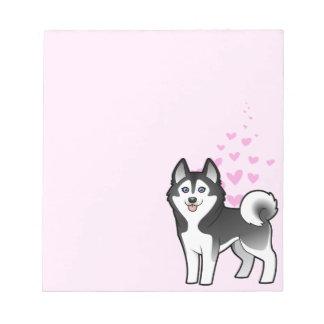 Amor del husky siberiano/del Malamute de Alaska Blocs De Notas