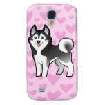 Amor del husky siberiano/del Malamute de Alaska Carcasa Para Galaxy S4