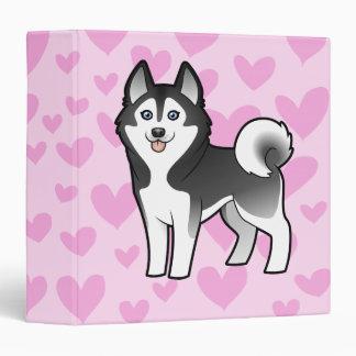 "Amor del husky siberiano/del Malamute de Alaska Carpeta 1 1/2"""