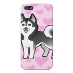 Amor del husky siberiano/del Malamute de Alaska iPhone 5 Carcasa