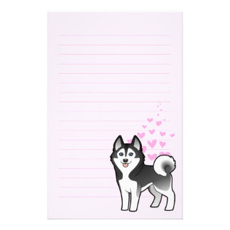 Amor del husky siberiano/del Malamute de Alaska Papeleria De Diseño